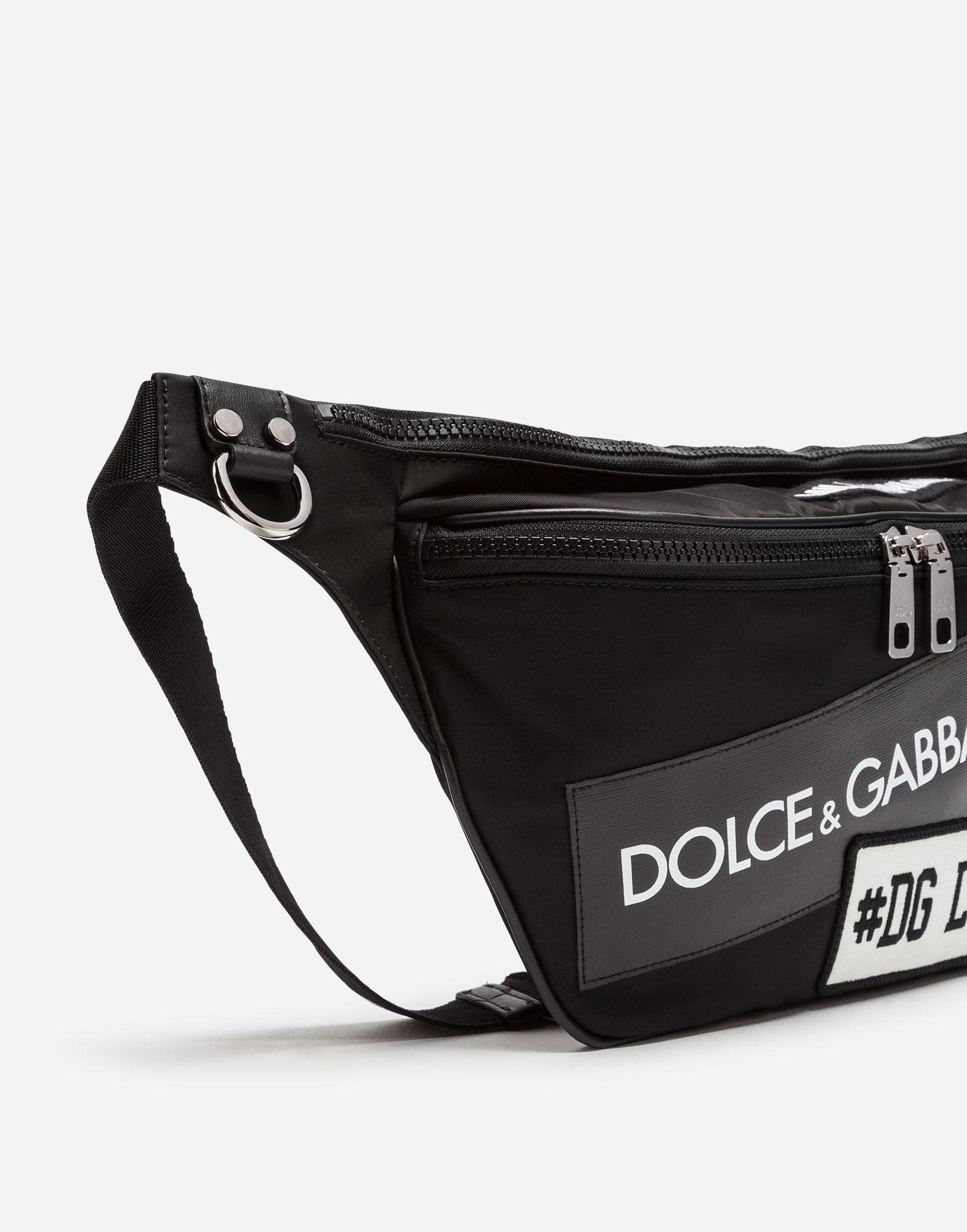 Lyst - Dolce   Gabbana Nylon Mediterraneo Fanny Pack With Label Patch in  Black for Men 70e2486f7c