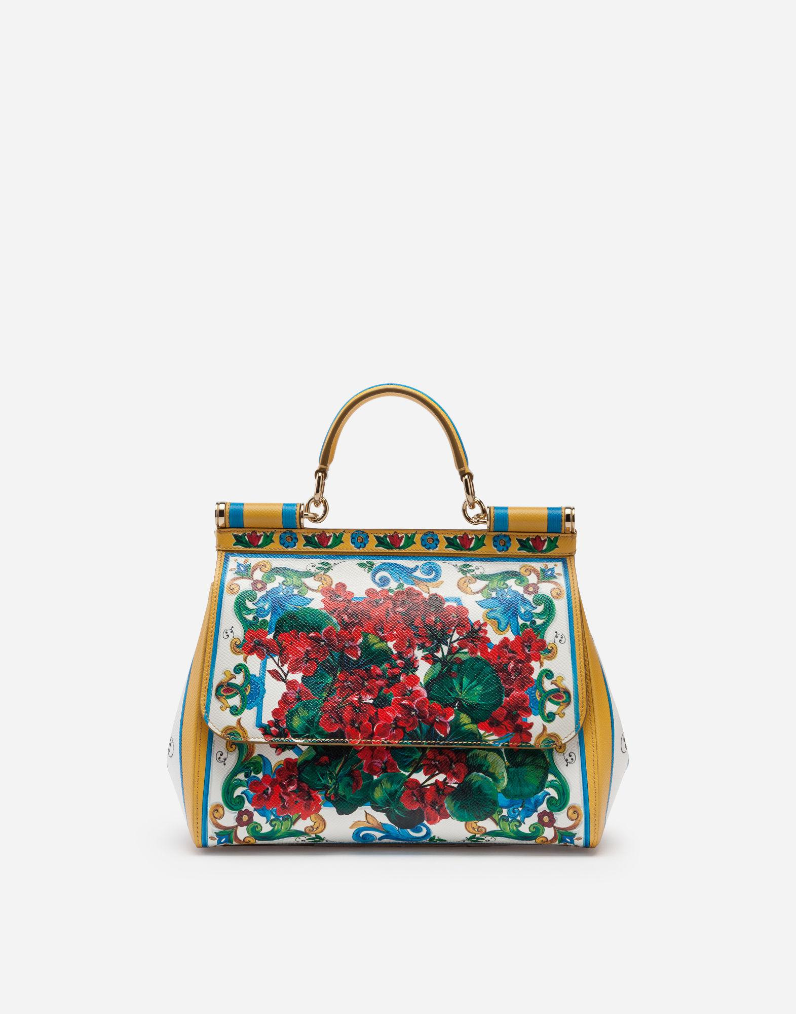 317cd605e860 Lyst - Dolce   Gabbana Medium Sicily Bag In Printed Dauphine Calfskin