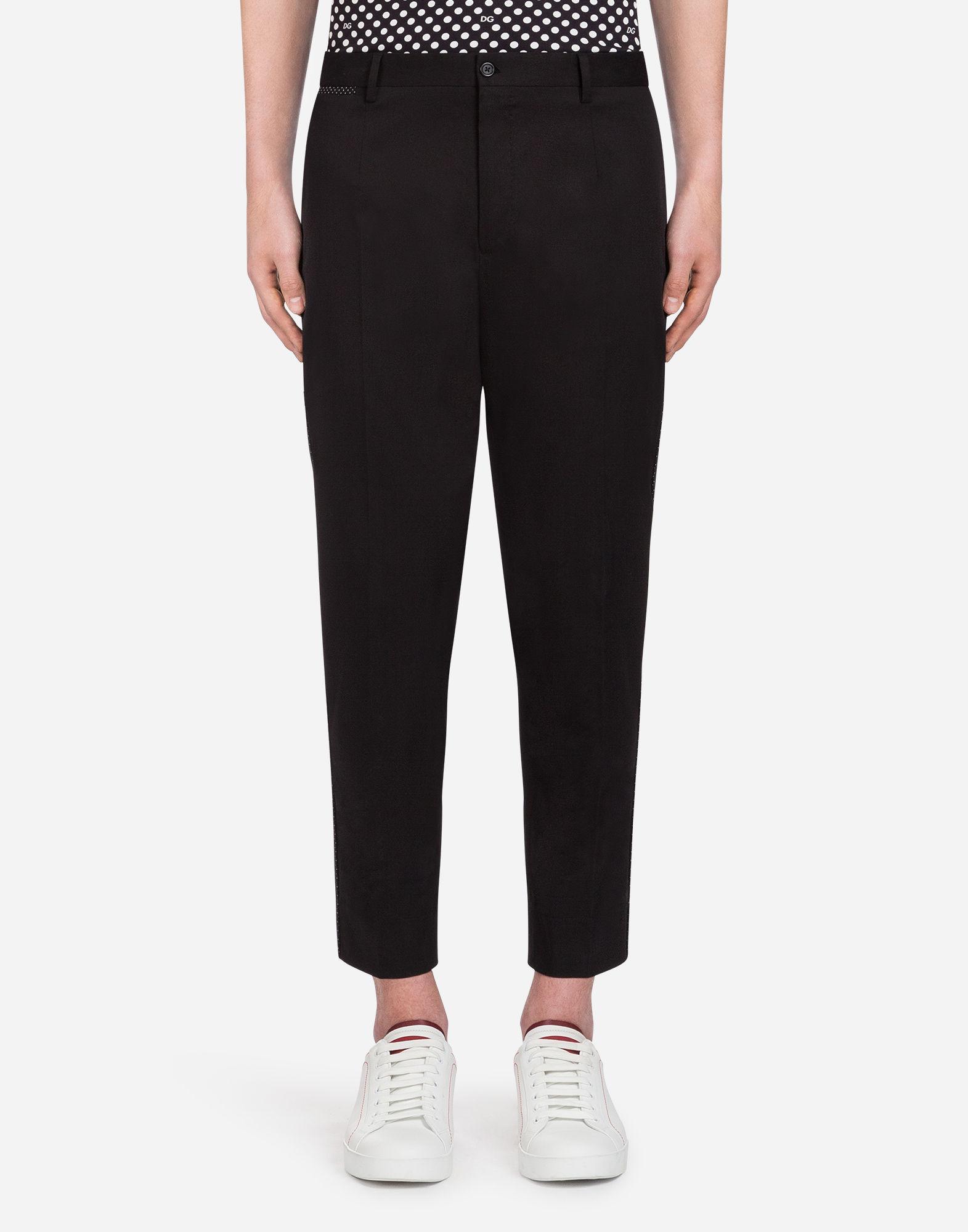 Dolce & Gabbana. Men's Black Stretch Cotton Trousers