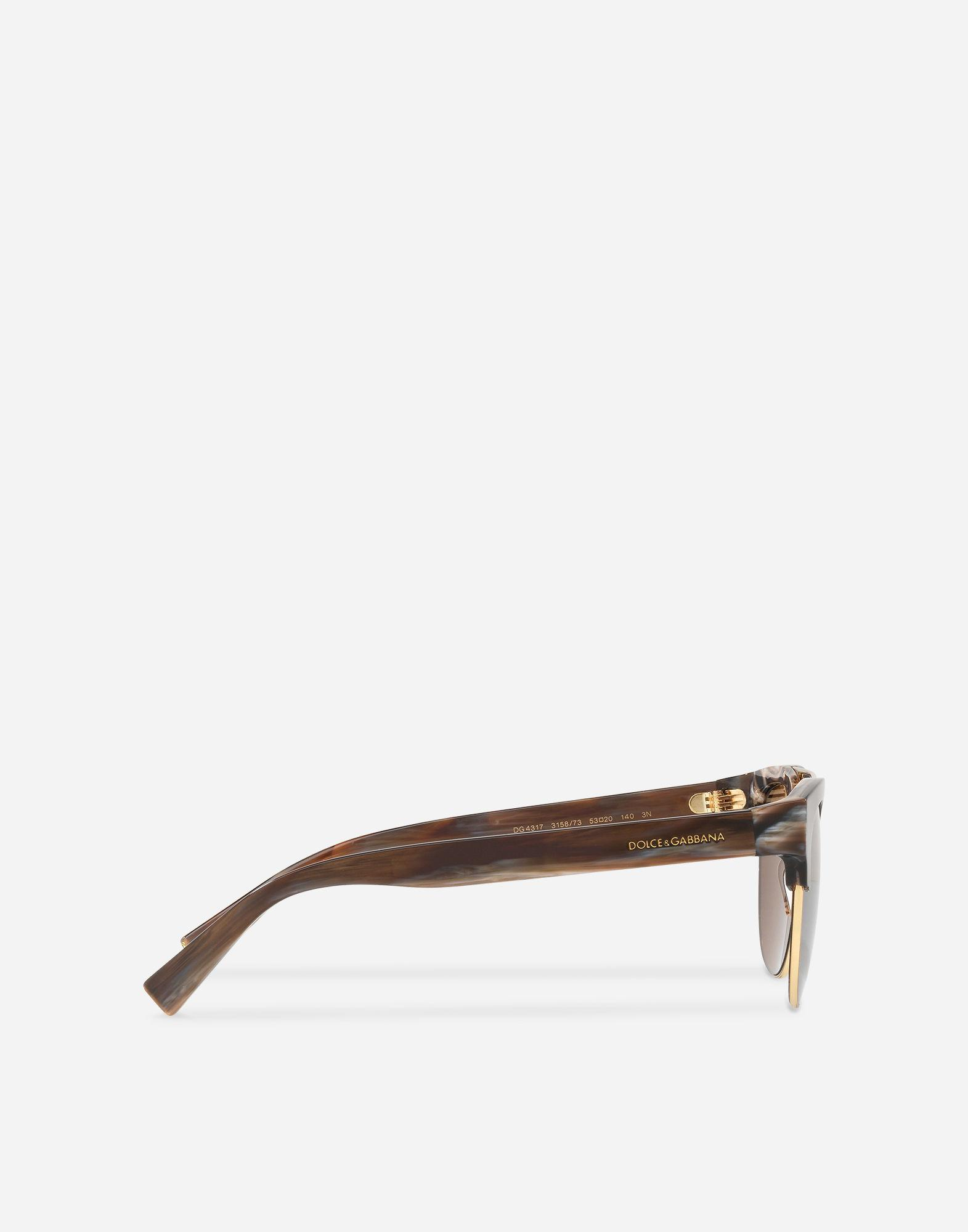 3f9876ffecb2 Dolce   Gabbana - Brown Square Sunglasses With Double Bridge In Metal for  Men - Lyst. View fullscreen