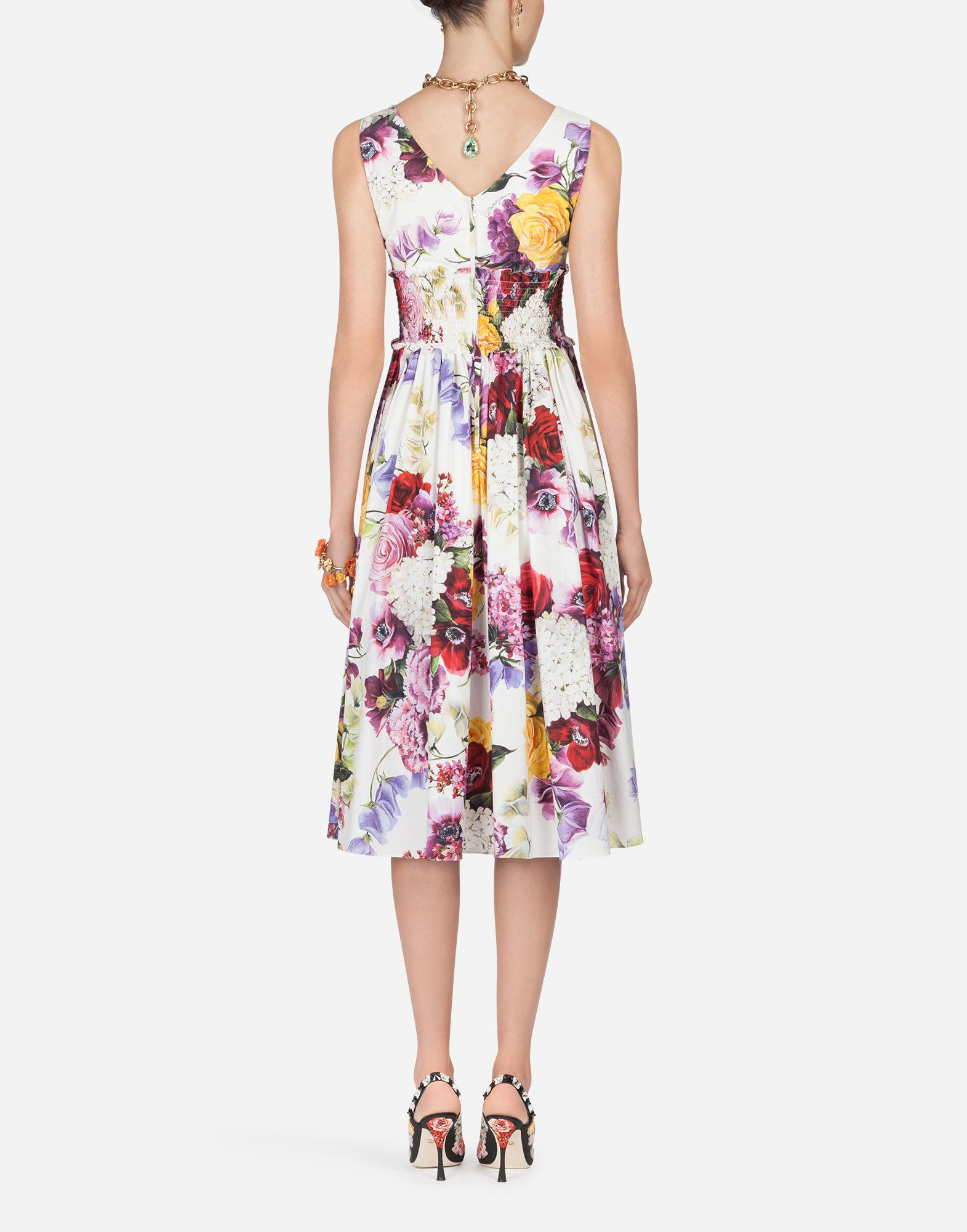 Lyst - Dolce   Gabbana Printed Cotton Dress - Save 44% 3c640c3e1