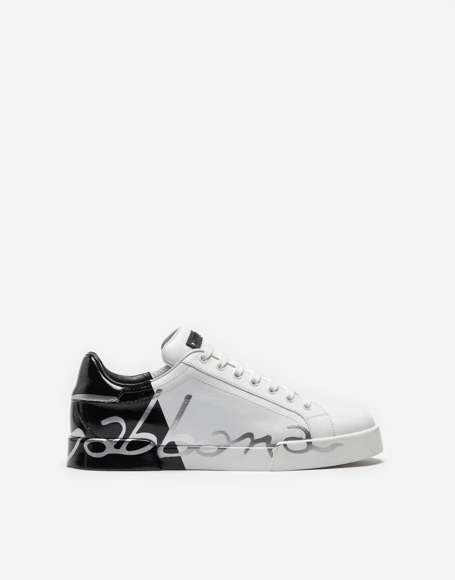 Dolce & Gabbana Monochrome Logo Leather Sneakers