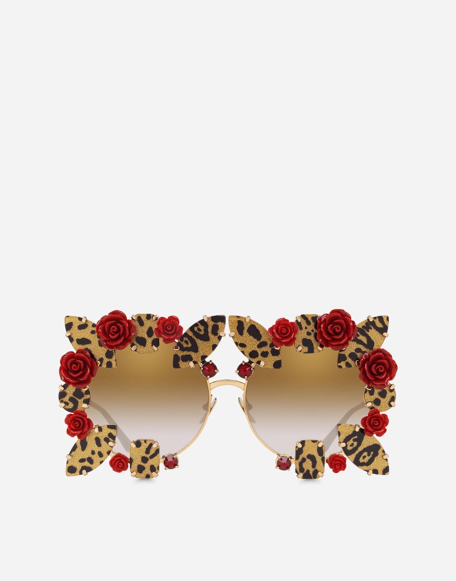 25f6e829d891 Lyst - Dolce   Gabbana Dg Leo   Roses Sunglasses in Metallic