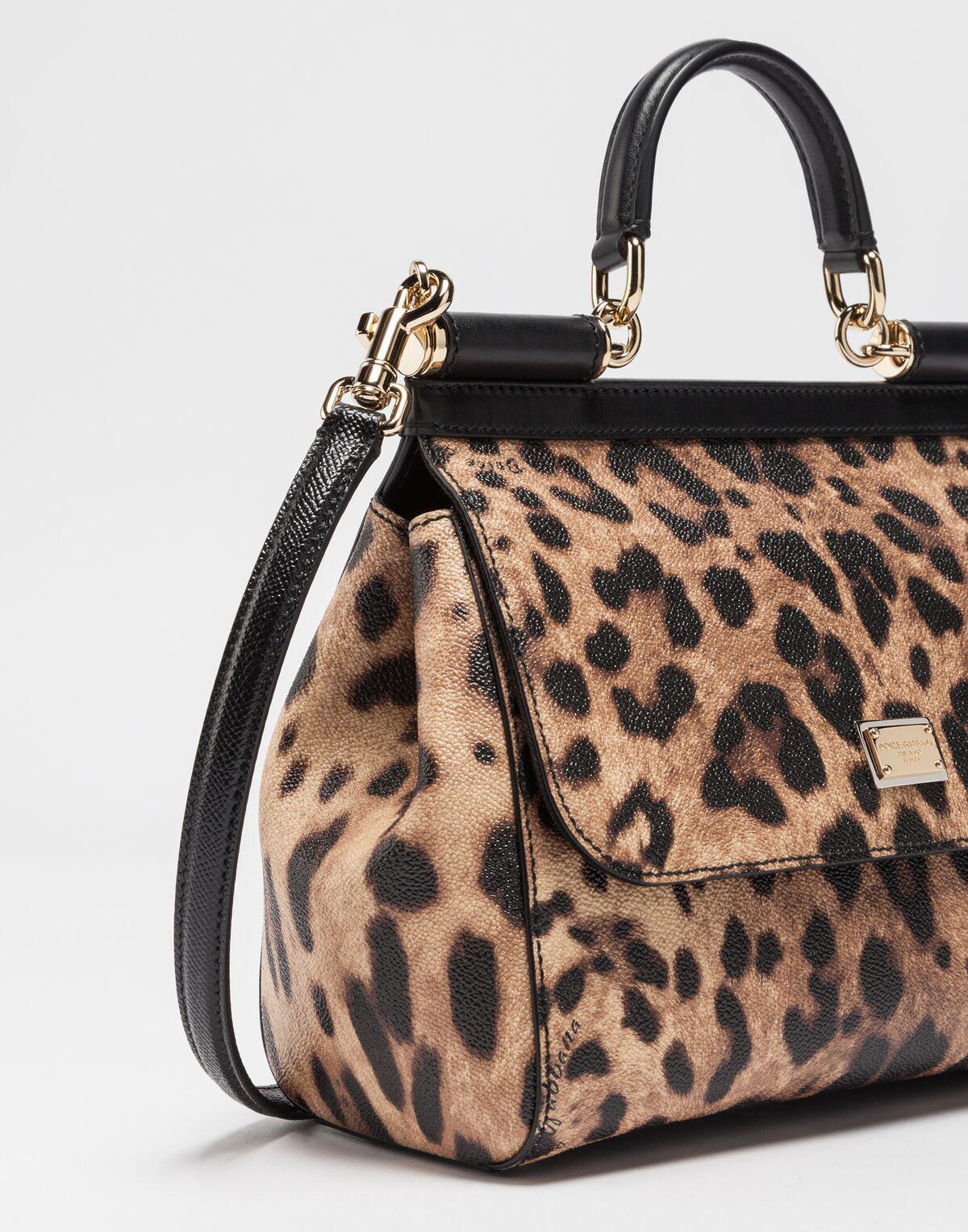 Lyst - Dolce   Gabbana Medium Sicily Handbag In Dauphine Leather in Brown 5cff14e8cd
