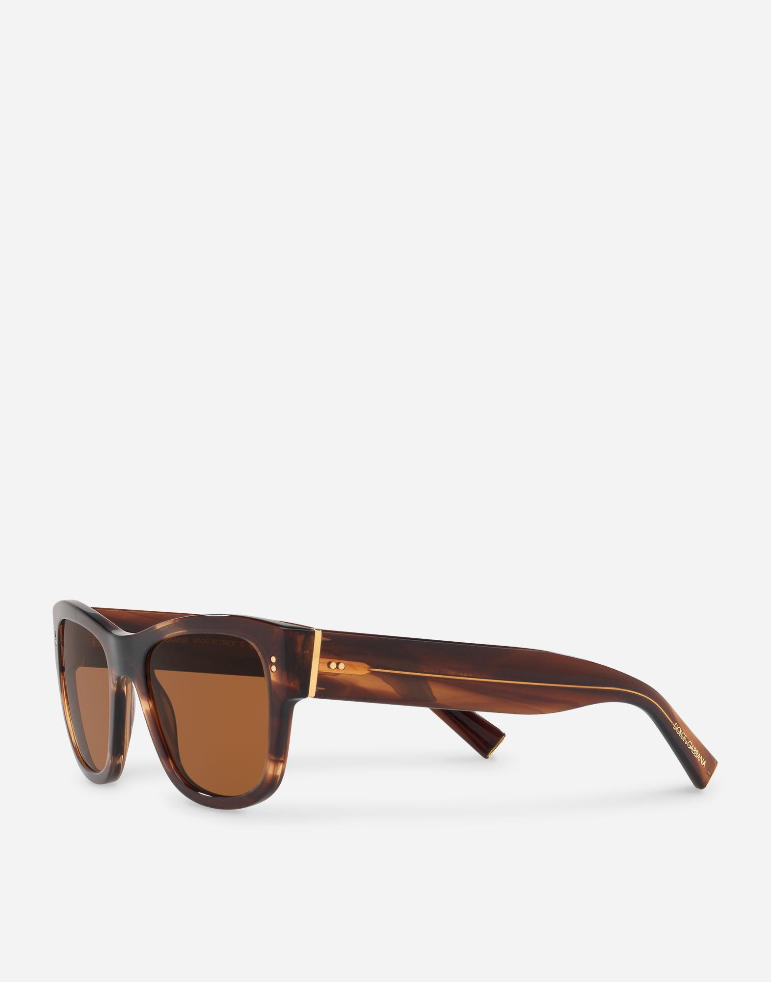 3df2aefb052 Lyst - Dolce   Gabbana Domenico Sunglasses in Brown for Men