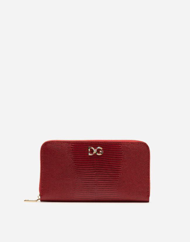 819abc674a2a7b Dolce & Gabbana Portemonnaie Mit Rundumreissverschluss Aus ...