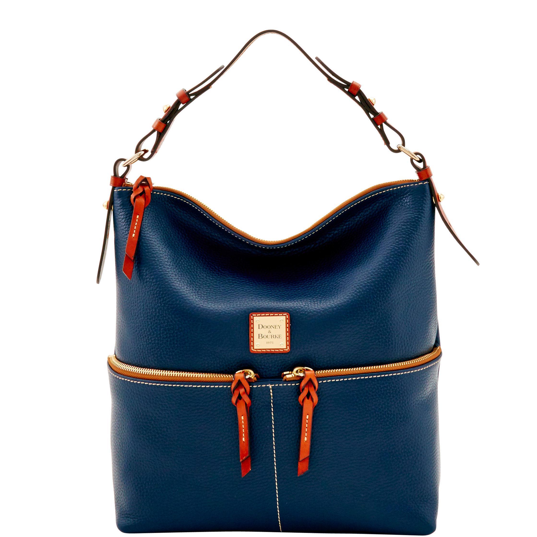 Lyst - Dooney   Bourke Pebble Grain Zipper Pocket Sac in Blue - Save 41% bb874bd17ef7f