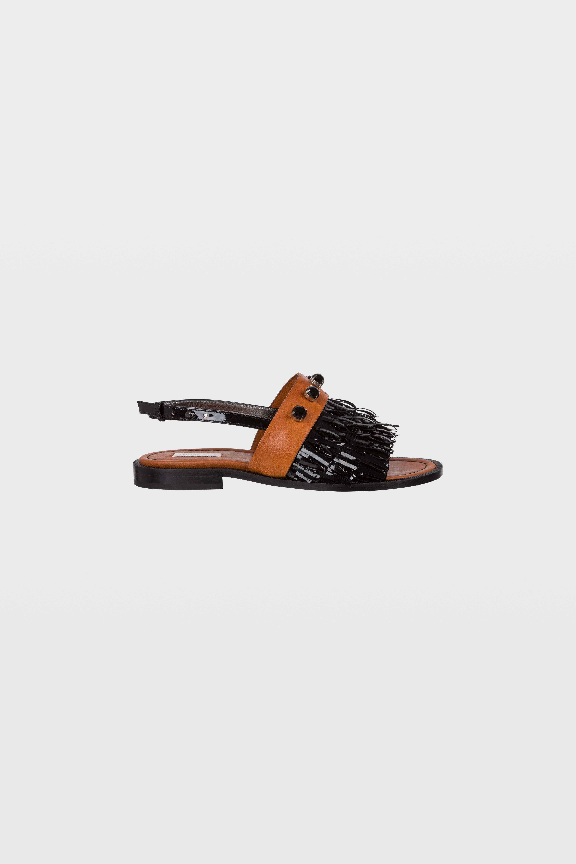 FRINGED AMBITION fringed flat sandal 36 Dorothee Schumacher Cr0tK7