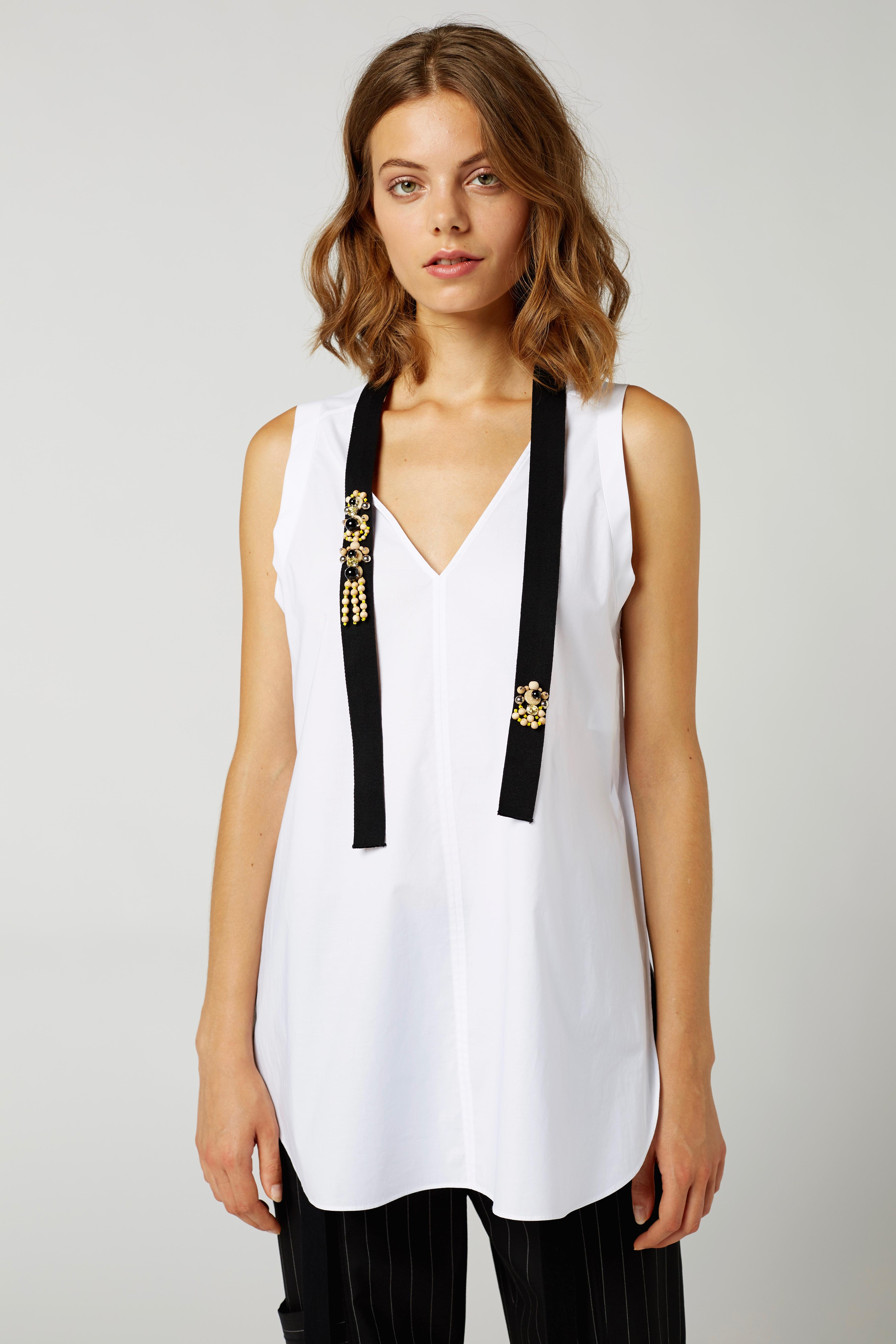 COOL TOUCH blouse sl. less 2 Dorothee Schumacher P88tJ