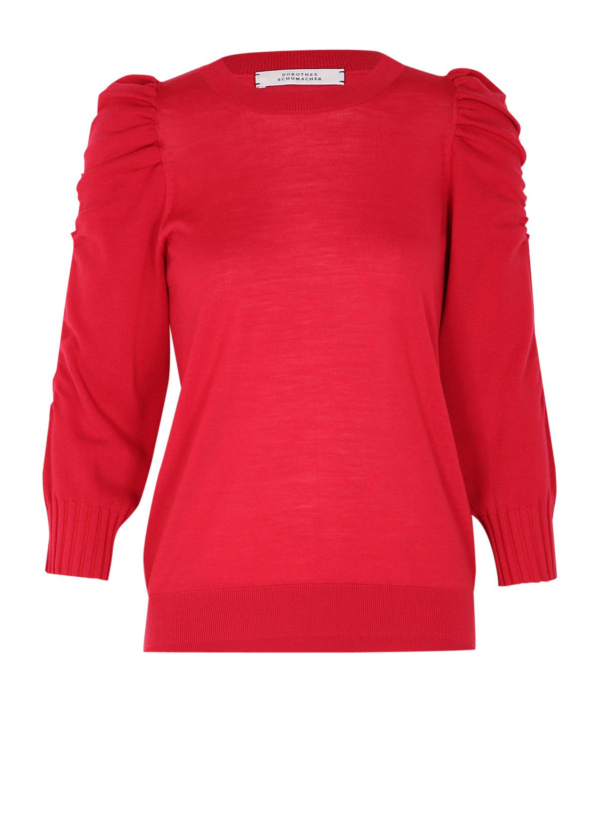 dorothee schumacher tender transit pullover o neck 3 4 in red save 3 lyst. Black Bedroom Furniture Sets. Home Design Ideas