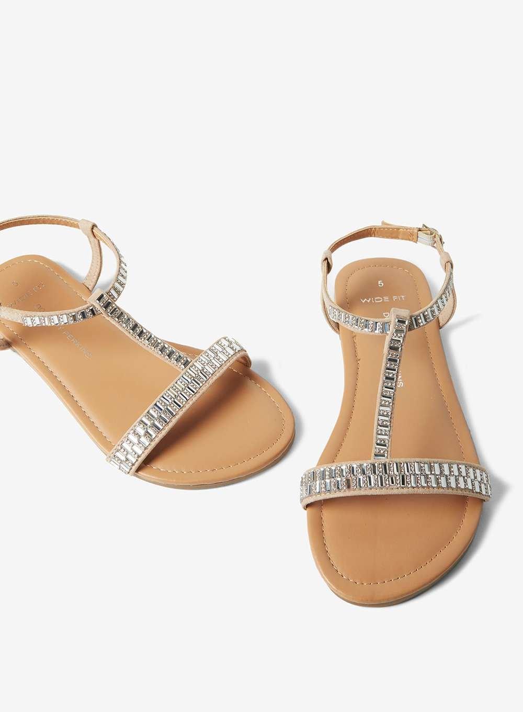 ddedb4de44434 Dorothy Perkins Wide Fit Nude  fiesty  Sandals in White - Lyst