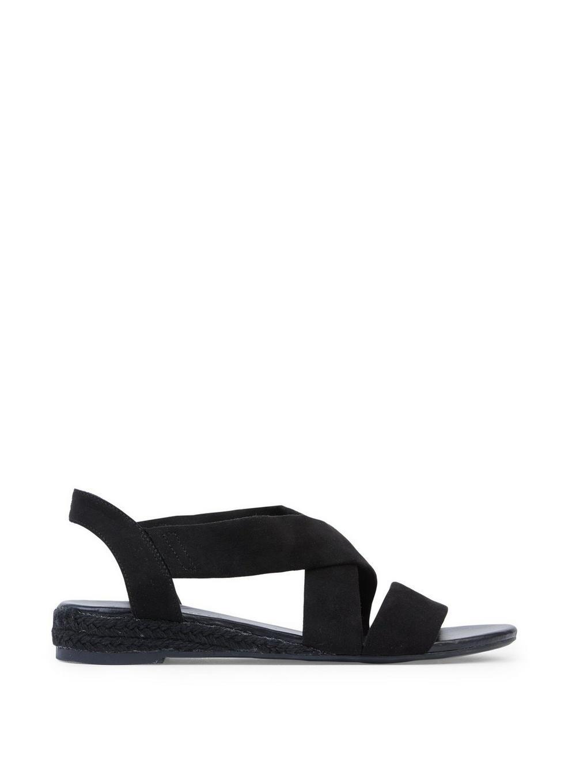 9aaffbb291 Lyst - Dorothy Perkins Wide Fit Black Ream 'demi' Wedge Sandals in Black