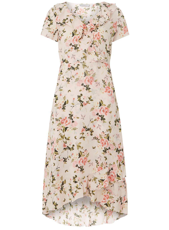 33e35f536 Petite Pink Floral Print Maxi Dress | Saddha