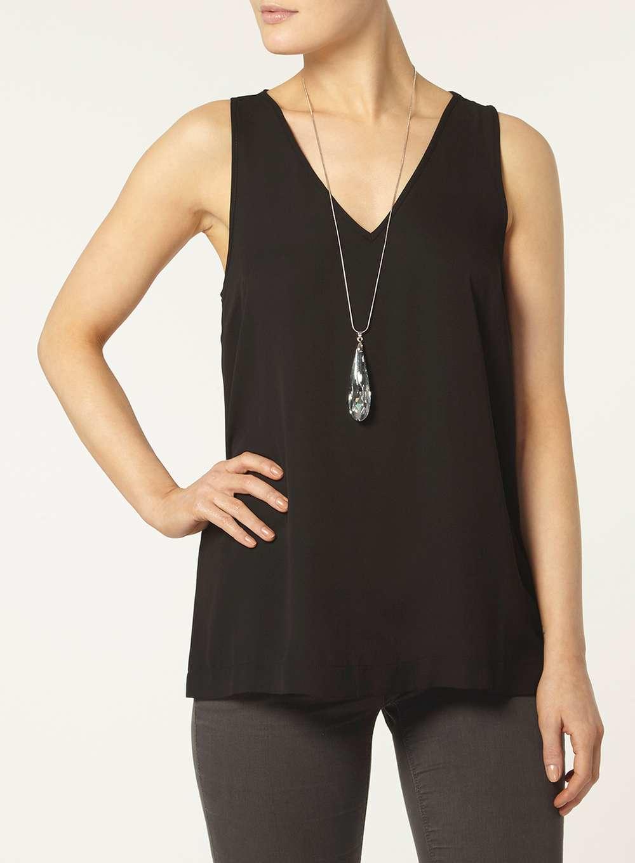 Black V Neck T Shirt Women