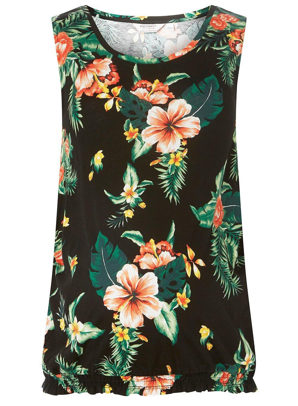 8d3bfd0fbe332 Dorothy Perkins Maternity Black Tropical Print Vest in Black - Lyst
