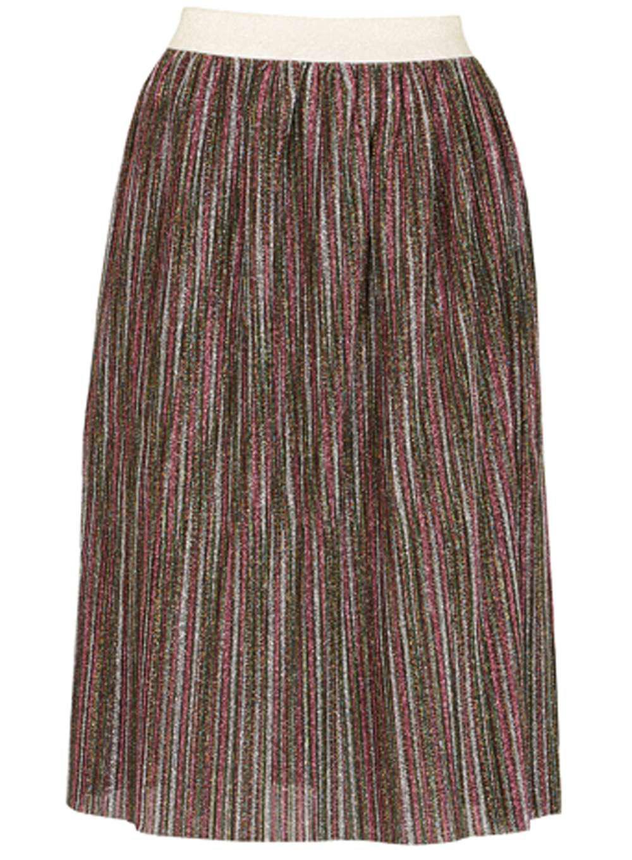 dorothy perkins tenki multi coloured shiny midi skirt in