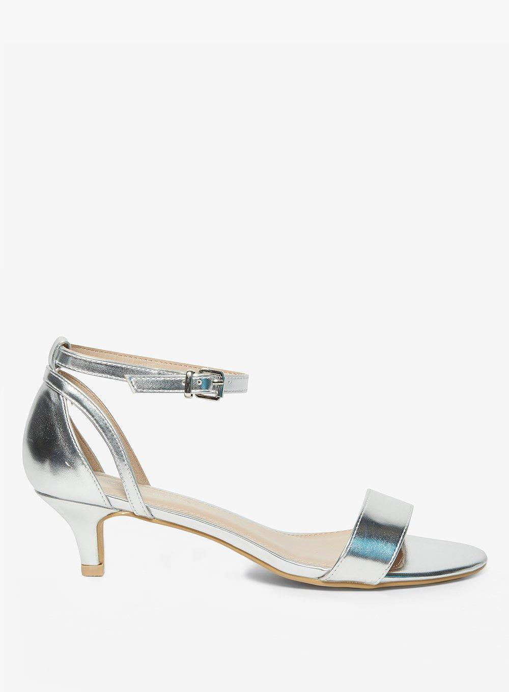 21c31a94e94 Lyst - Dorothy Perkins Silver  sunrise  Heeled Sandals in Metallic