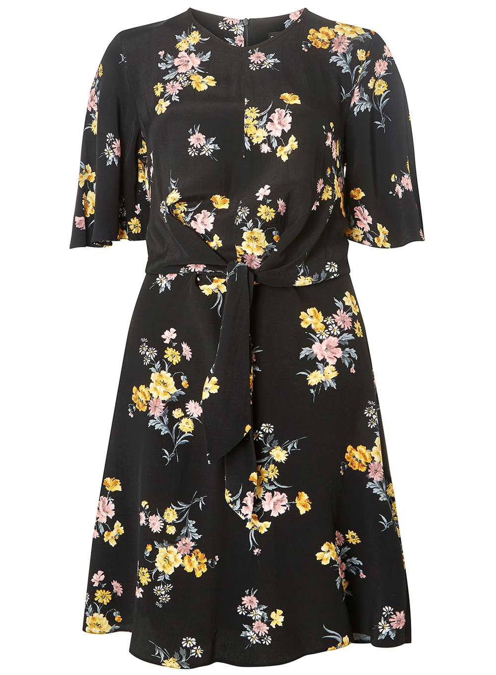 Many Styles Dorothy Perkins Womens **Tall Floral Print Knot Front Skater Dress- Classic Cheap Price Cheap Sale Fashion Style Sneakernews For Sale Sale From China 1nIWTuZ
