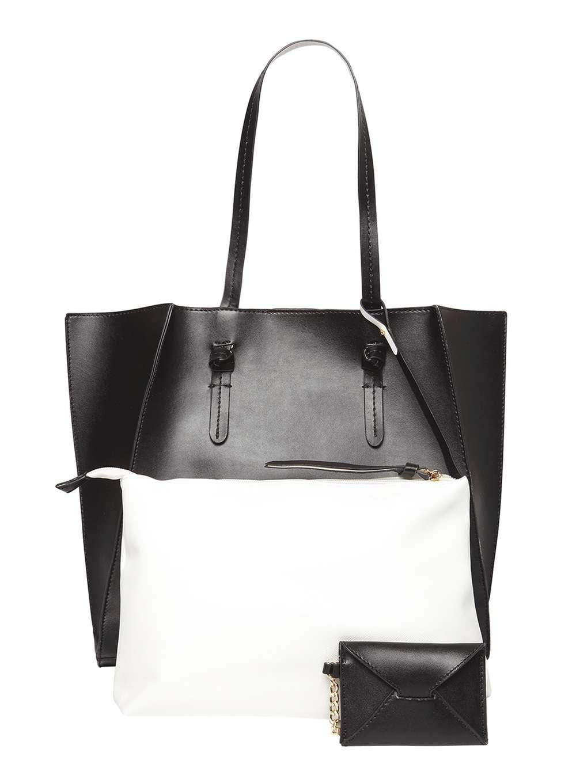 0ba051804bdb Dorothy Perkins Lydc Black Everyday Basic Tote Bag in Black - Lyst