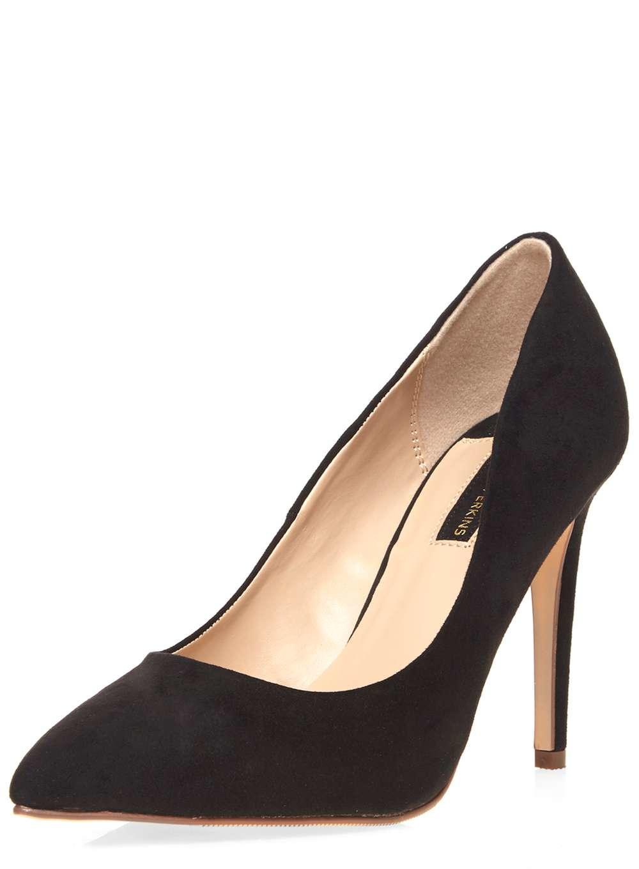Black Suede Court Shoes Size