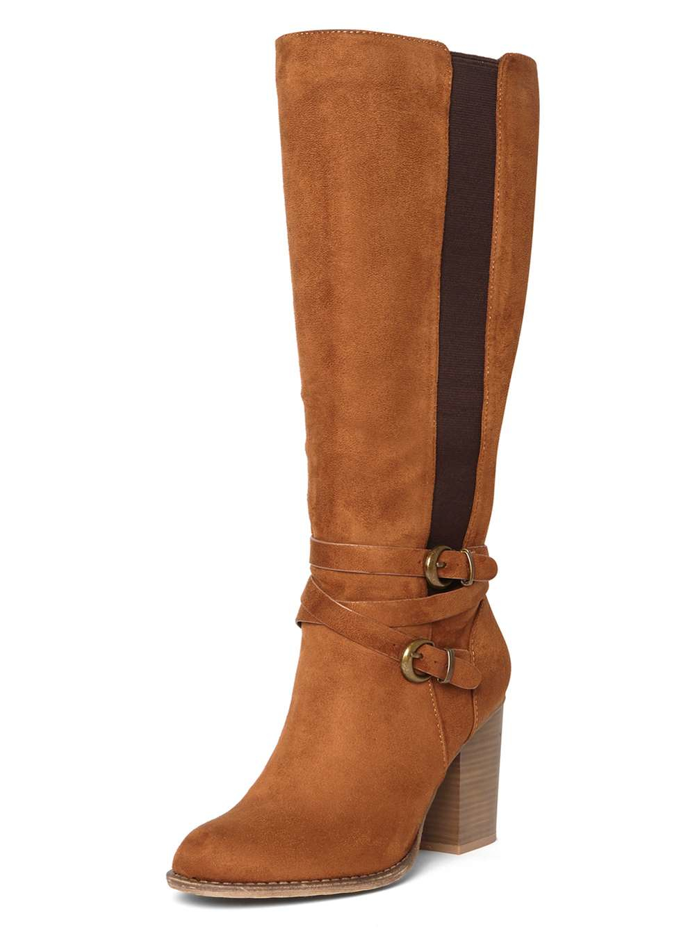 a1c9c7fd209 Lyst - Dorothy Perkins Tan  kyla  Knee High Boots in Brown