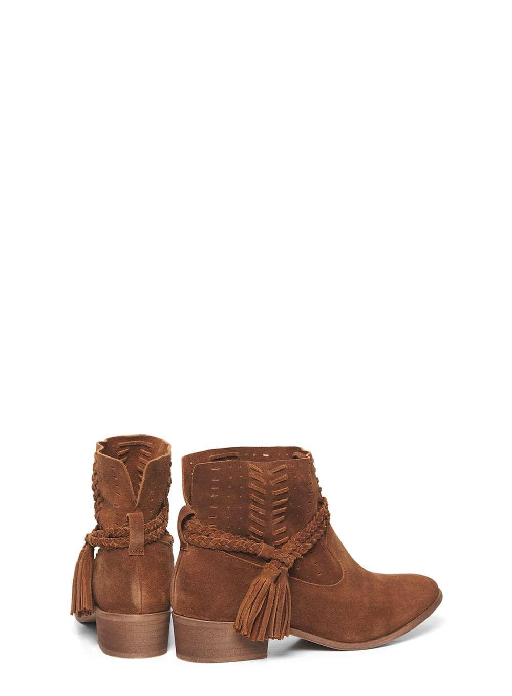 dorothy perkins leather boots in brown lyst