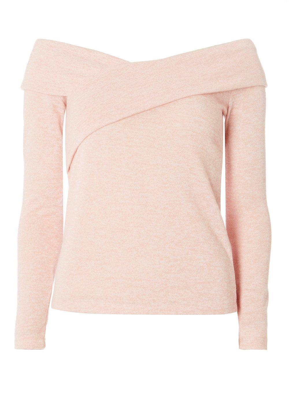 Dorothy Perkins Womens Blush Crisscross Front Bardot Top- Best Purchase Cheap Online hDlA4ncY