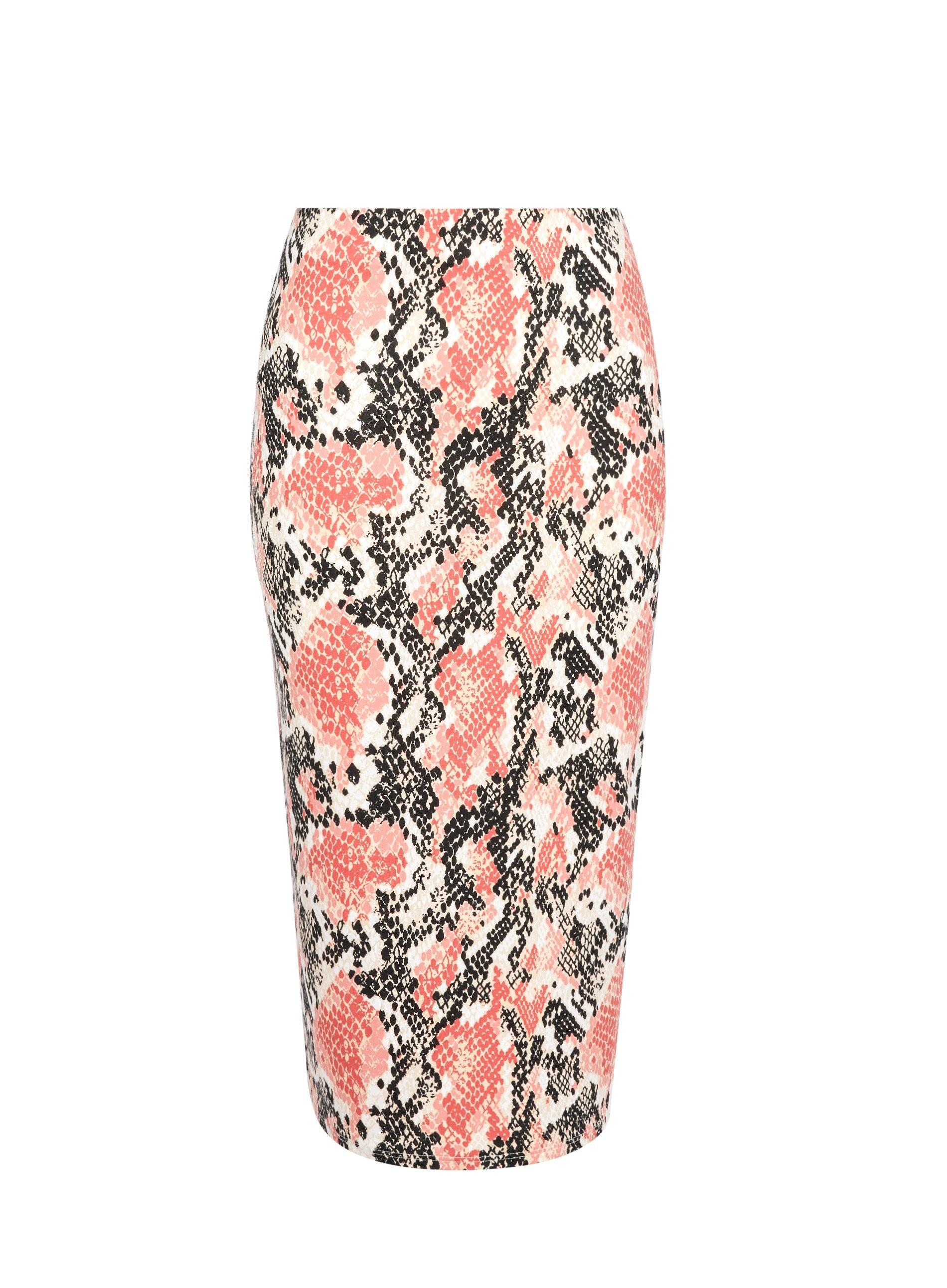cfa08ddc31 Dorothy Perkins. Women's Pink Multi Coloured Coral Snake Print Pencil Skirt