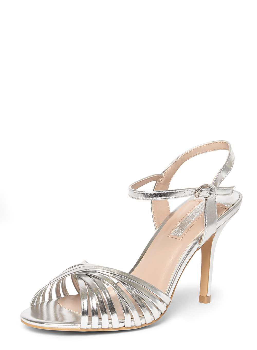 Dorothy Perkins Silver Nice Stppy Ankle Strap Sandals clearance choice lowest price for sale sale outlet locations CVIbOvANzc