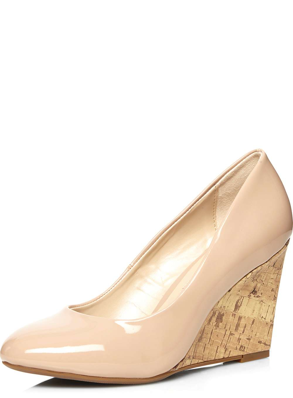 dorothy perkins blush wedge court shoes in pink lyst