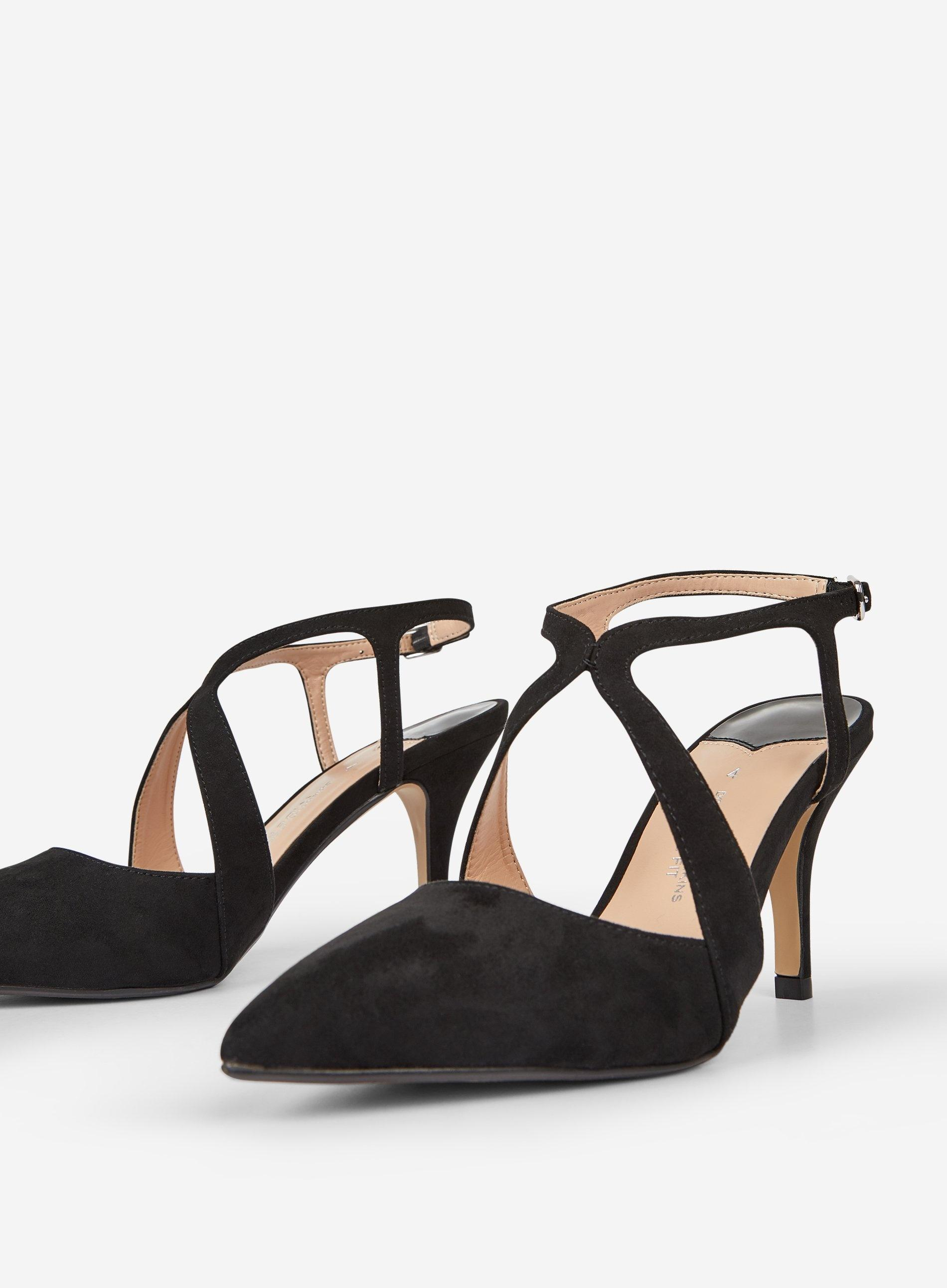 afca7ffbef Dorothy Perkins - Wide Fit Black Microfibre 'enigma' Court Shoes - Lyst.  View fullscreen