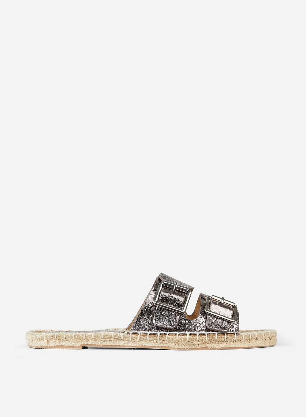 8d17394861091f Lyst - Dorothy Perkins Pewter  farla  Sandals in Gray