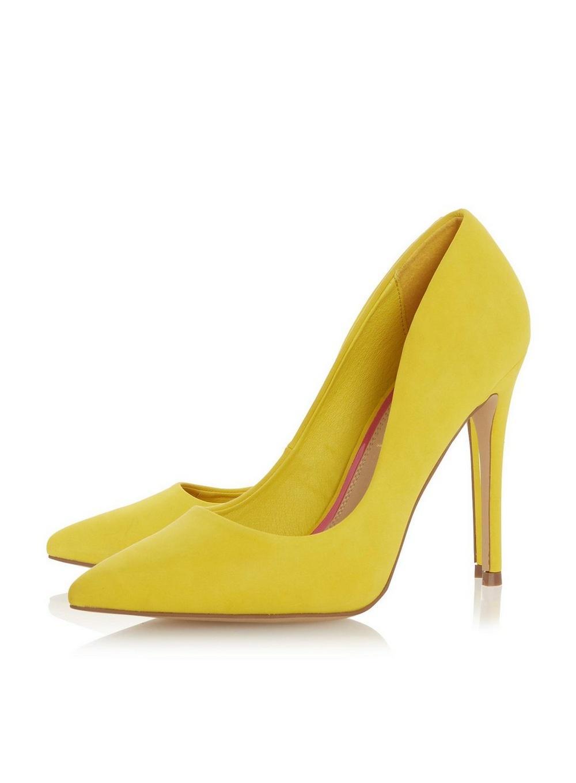 921e542b2 ... Head Over Heels By Dune Yellow  aimees  Ladies High Heel Court. View  fullscreen
