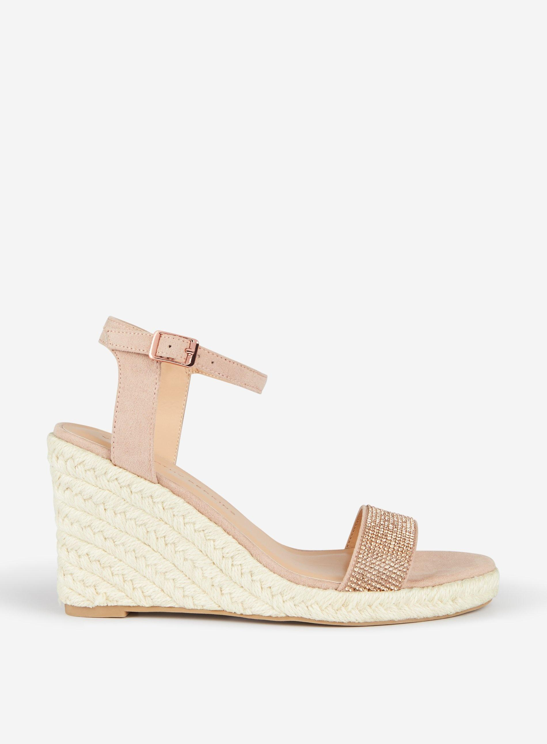 91a9491206b Dorothy Perkins Blush Ria Espadrille Wedge in Pink - Save 10% - Lyst