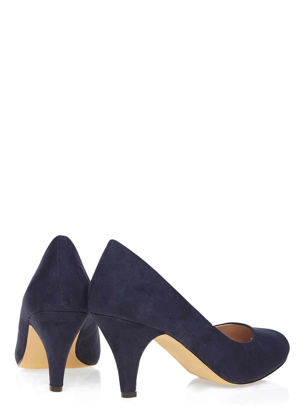 Dorothy Perkins Wide Fit Navy Wilamina Mid Court Shoes