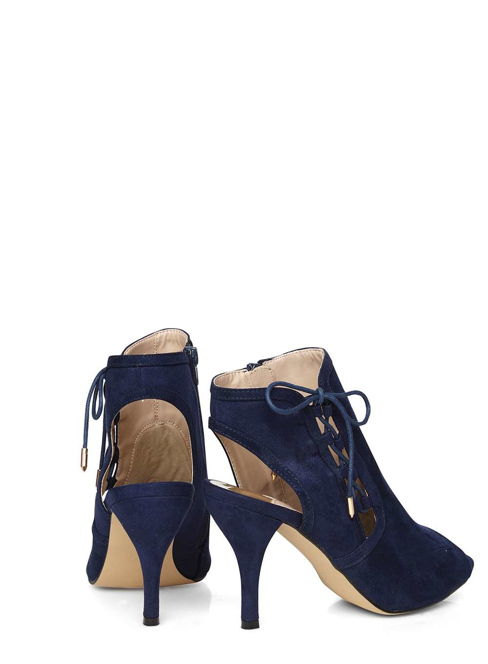 dorothy perkins wide fit navy wishful shoe boots in blue