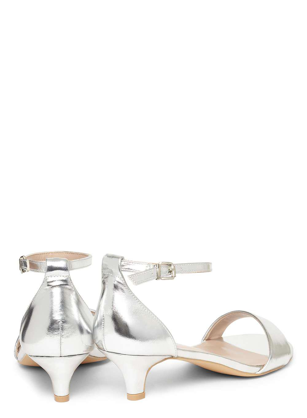 ff3a550d4e789 Dorothy Perkins Wide Fit Silver 'sundae' Low Heel Sandals in ...