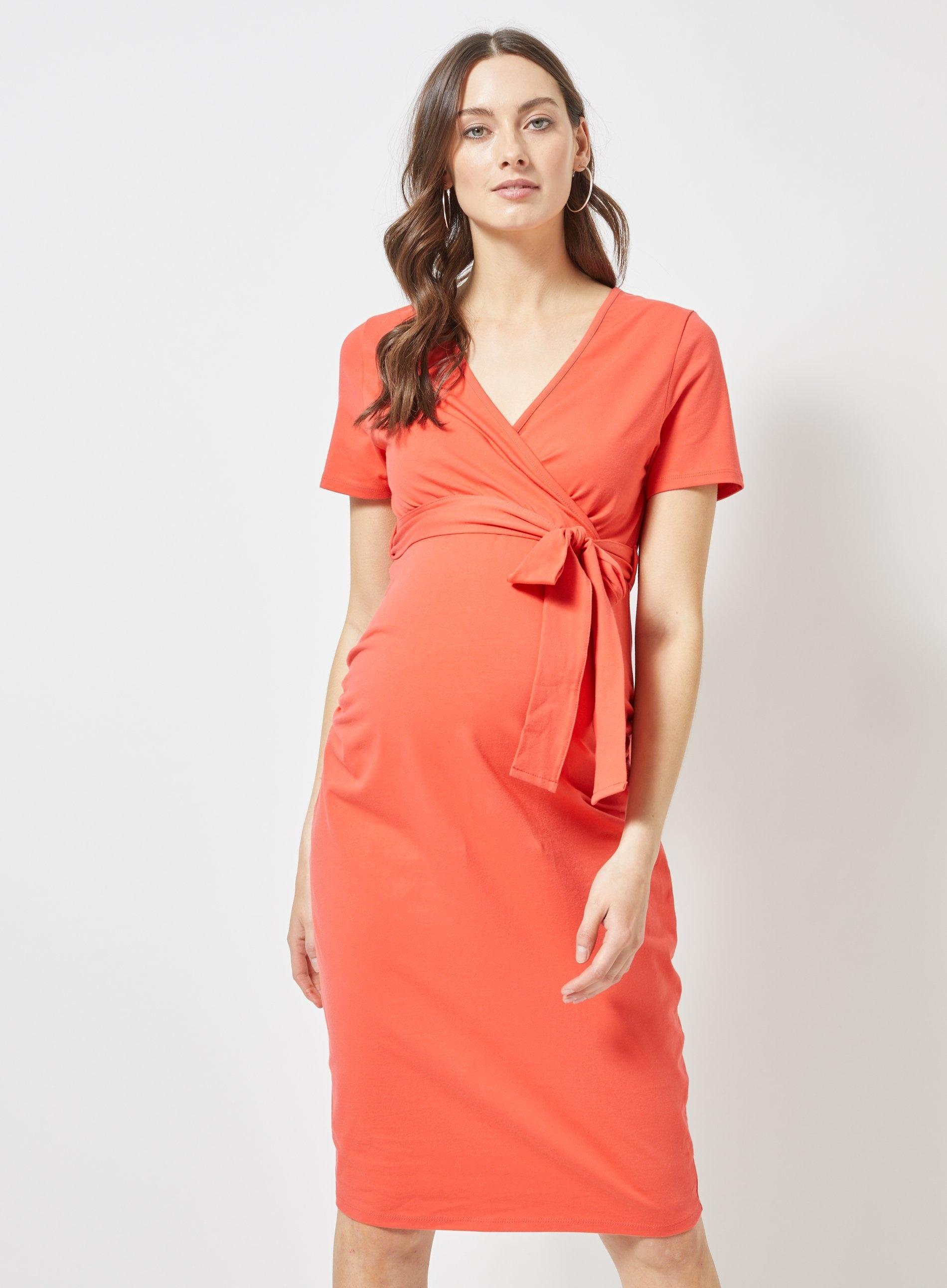 3e69891c01ff3 Dorothy Perkins - Multicolor Maternity Coral Short Sleeve Wrap Nursing Dress  - Lyst. View fullscreen
