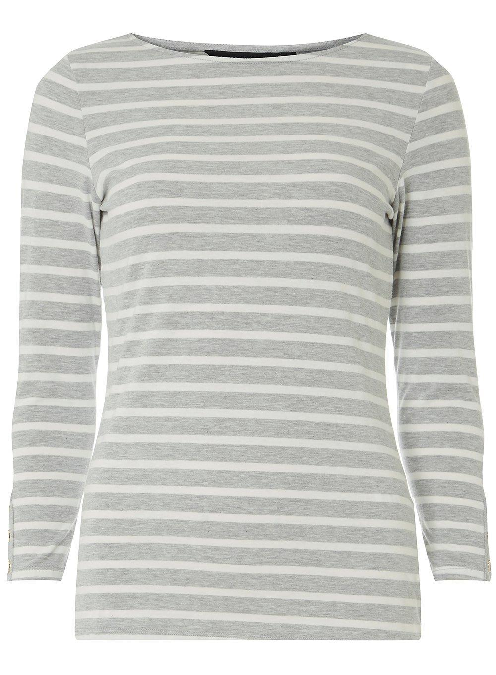 d3cbf69a54388 Dorothy Perkins Maternity Grey 3/4 Sleeve Top in Gray - Lyst