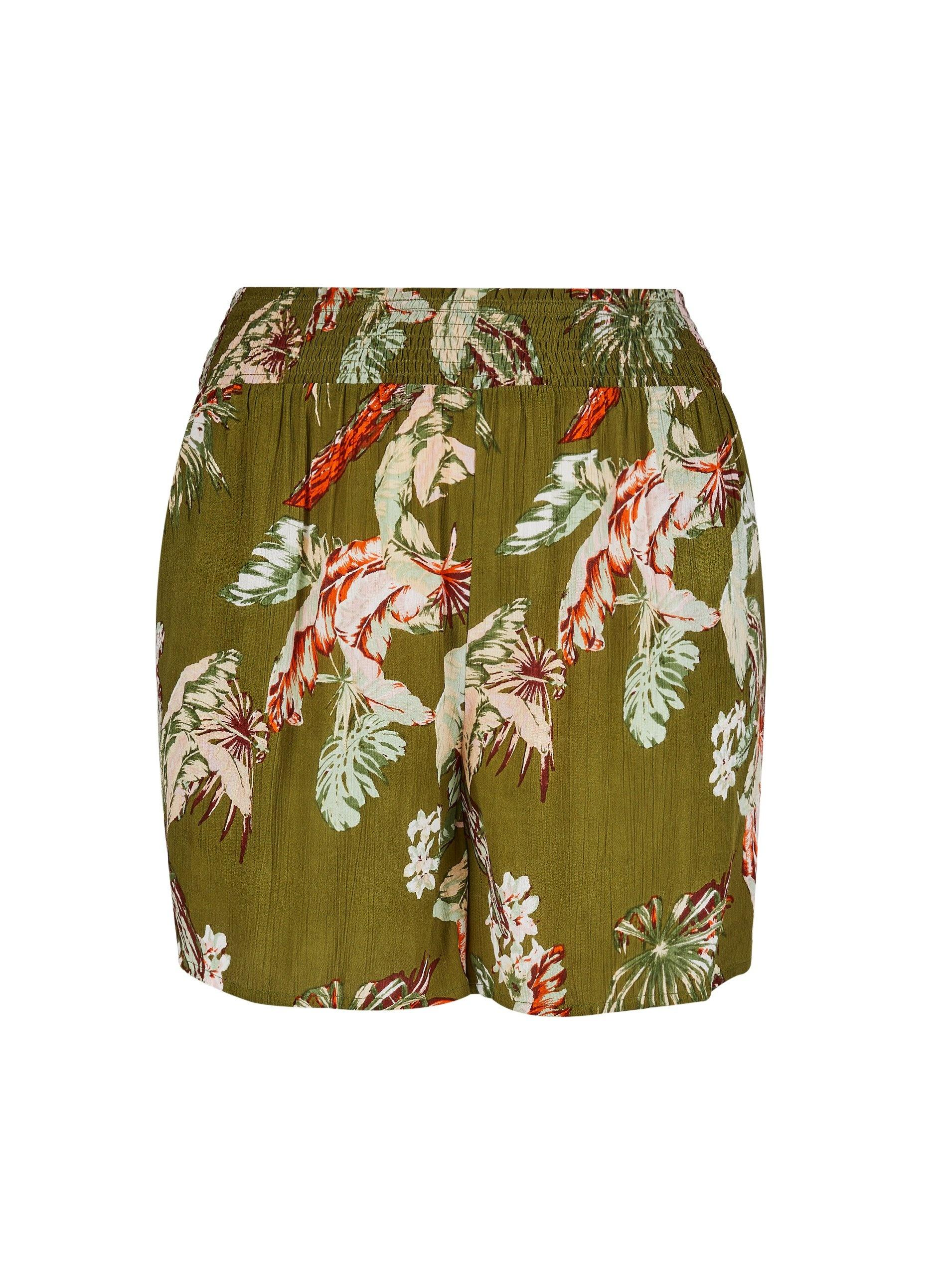 2b7c6ac936 Dorothy Perkins. Women's Dp Curve Khaki Floral And Crinkle Print Shorts