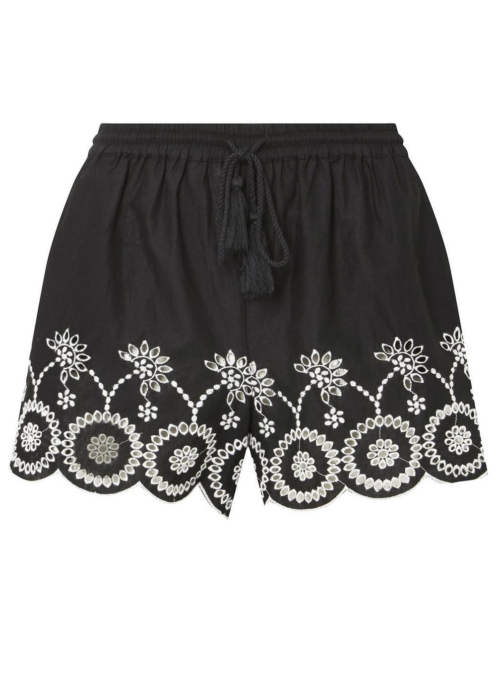 Dorothy Perkins Womens *DP Beach Chambray Embroidered Shorts- Cheap Sale Outlet Locations SzHfh