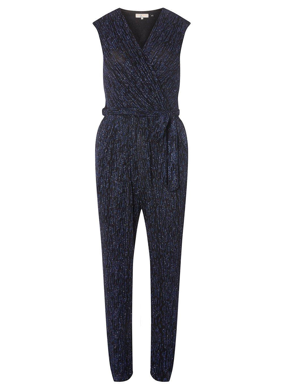 12c2610521c6 Lyst - Dorothy Perkins Billie   Blossom Petite Navy V-neck Jumpsuit ...