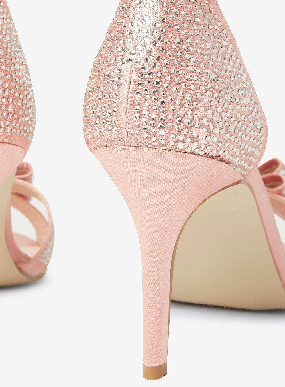 30a7586552a7f Lyst - Dorothy Perkins Showcase Blush 'sofia' T-bar Heel Sandals in Pink