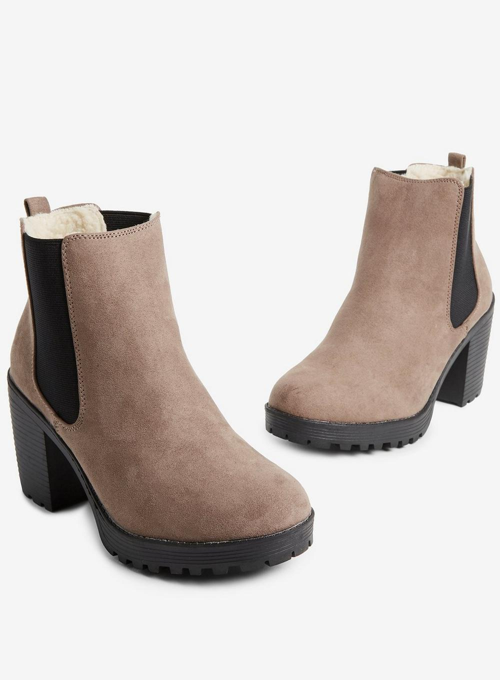 01bb3fc32833 Lyst - Dorothy Perkins Wide Fit Taupe Ainsley Boots in Brown