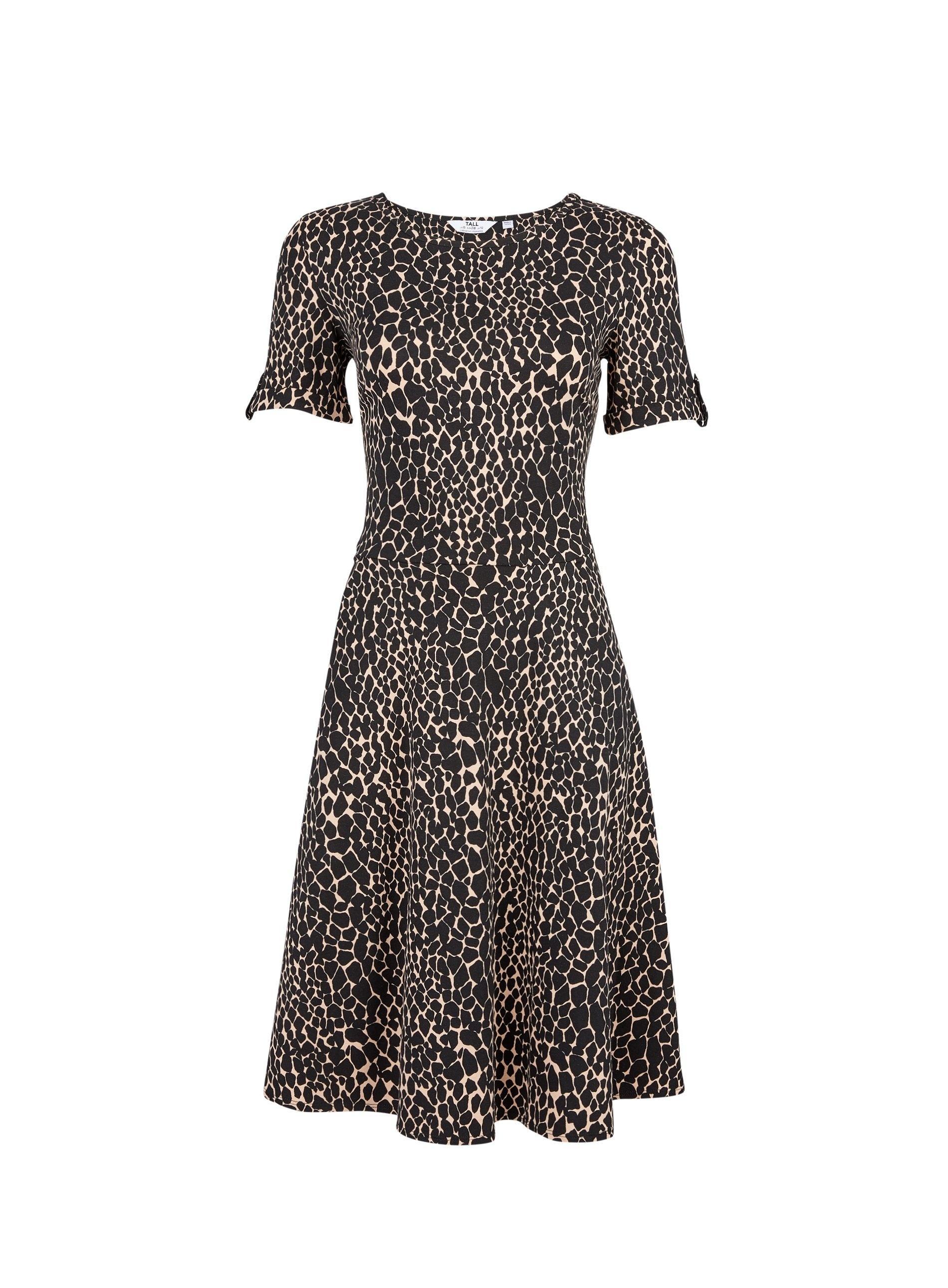 da00f048615 Dorothy Perkins - Black Tall Multi Coloured Giraffe Print T-shirt Dress -  Lyst. View fullscreen