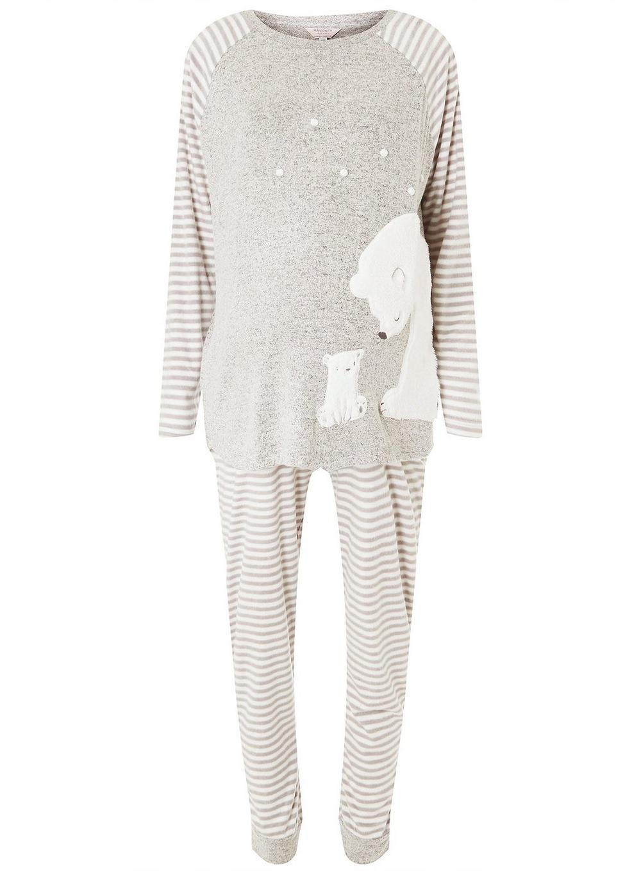 7677129e63 Dorothy Perkins Tall Grey Polar Bear Pyjama Set in Gray - Lyst