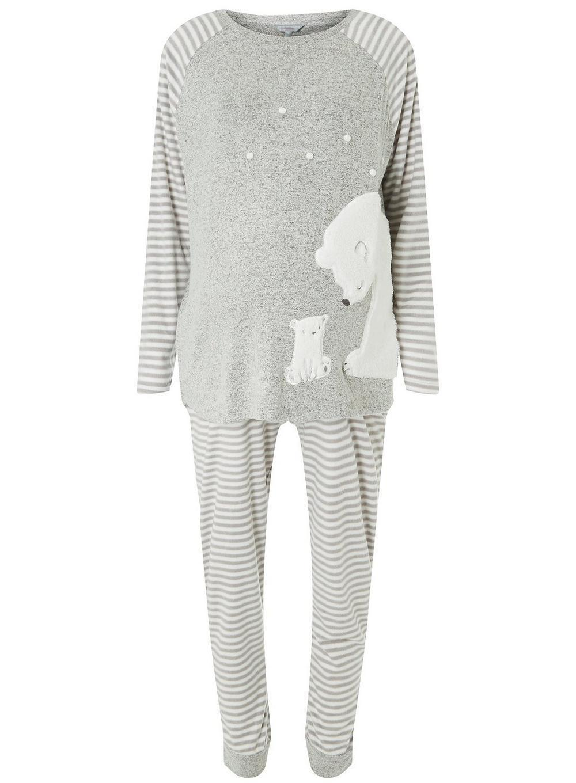 aca13cd9fe Dorothy Perkins Petite Grey Polar Bear Pyjama Set in Gray - Save ...