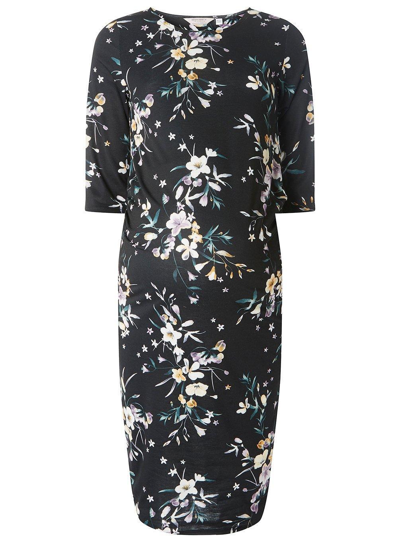 181523c21dc Lyst - Dorothy Perkins Maternity Black Floral Print Bodycon Dress in ...