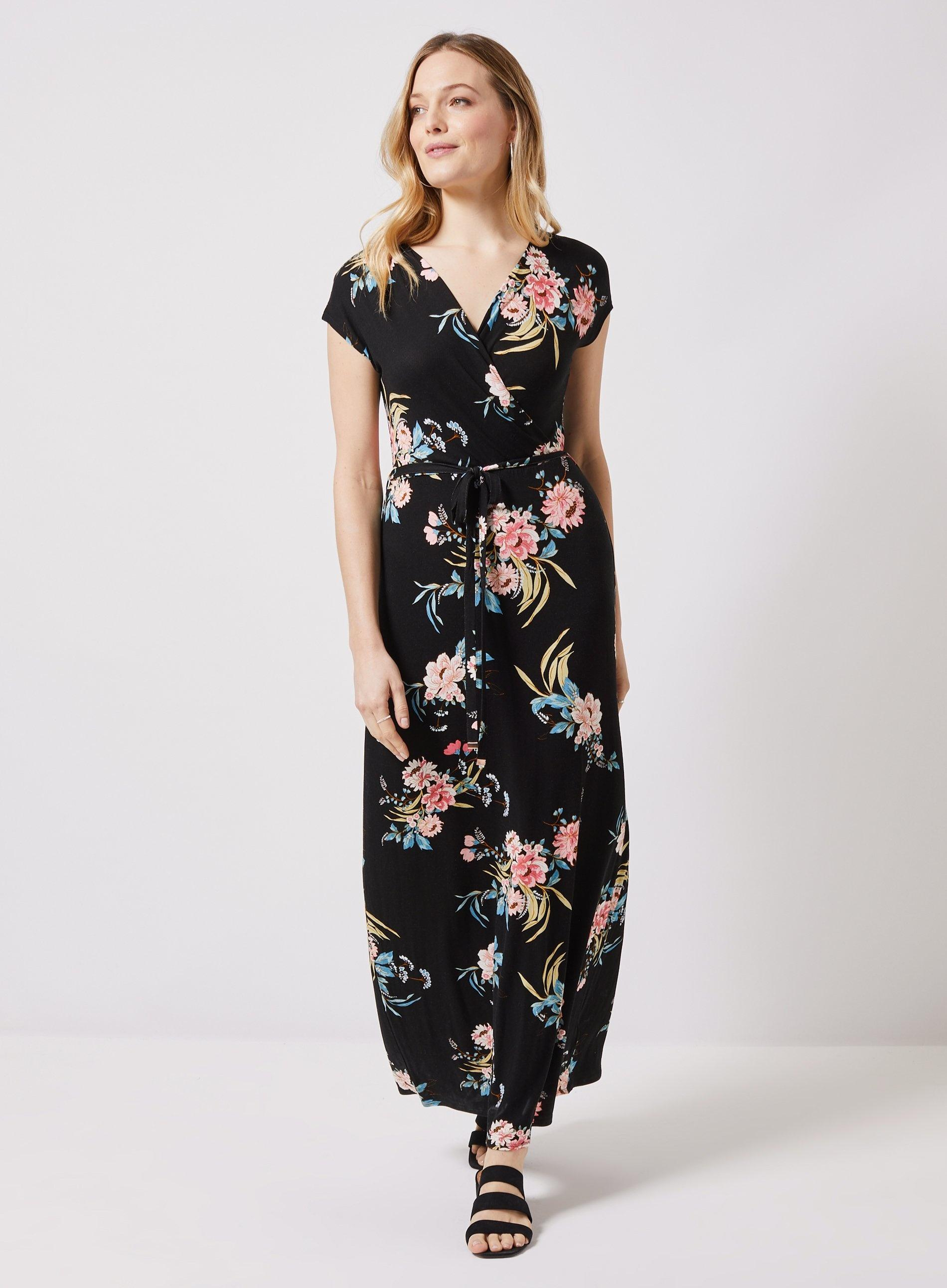 94ca222ce1e60 Black Floral Print Maxi Dress Dorothy Perkins