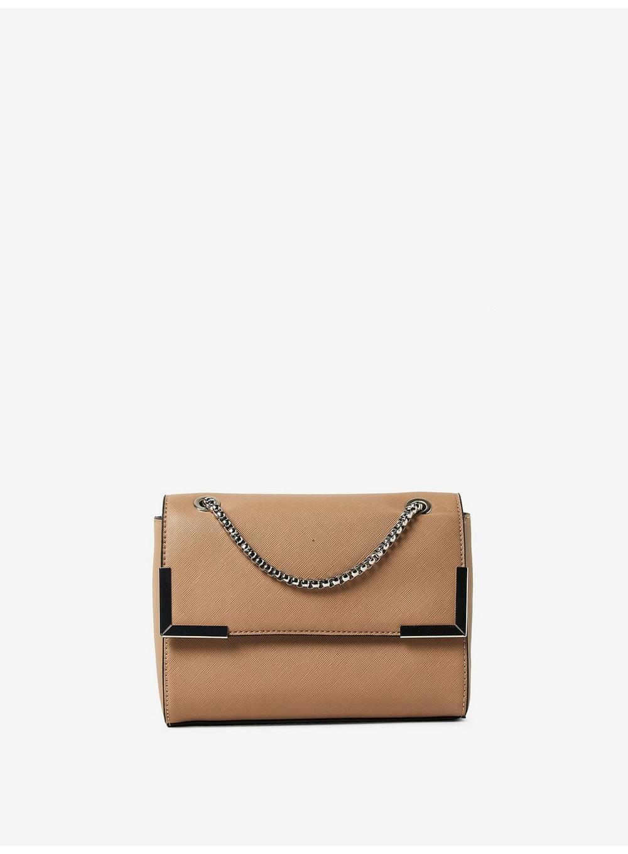 Lyst - Dorothy Perkins Taupe Metal Corner Cross Body Bag in White 0ac5bef872